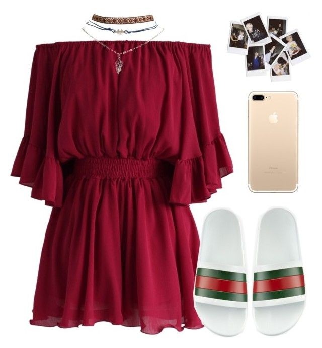 """""""Sem título #1033"""" by mariana-almeida-4 ❤ liked on Polyvore featuring Chicwish, Wet Seal, Gucci and Nasty Gal"""