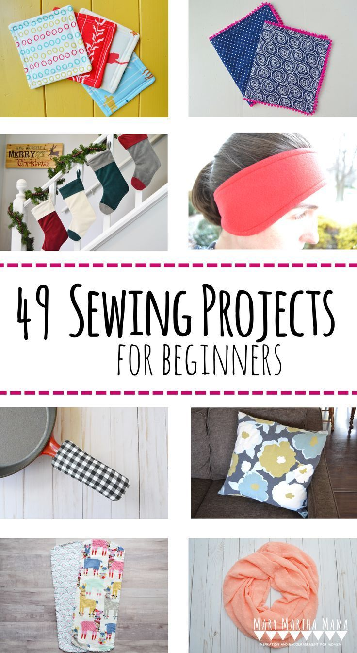 49 Sewing Projects for Beginners – Mary Martha Mama – easy sewing projects, se…
