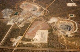 Damtshaaa mine, Botswana. Four small pipes close to Orapa mine.