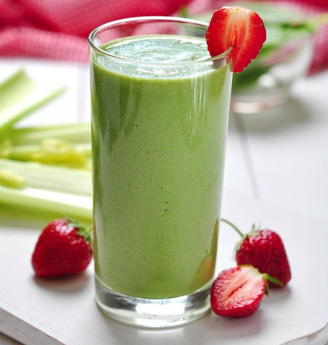 Green Strawberry Banana Smoothie½ cup frozen strawberries 1 whole banana 1 cup fresh spinach 1 scoop Beverly International® Ultimate Muscle Protein, vanilla 6 oz plain, non-fat Greek yogurt 1 cup water