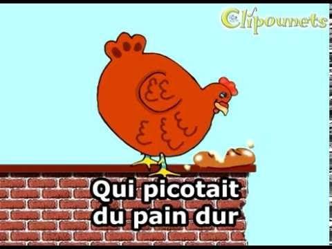 Une poule sur un mur - karaoke - Clipounets - YouTube