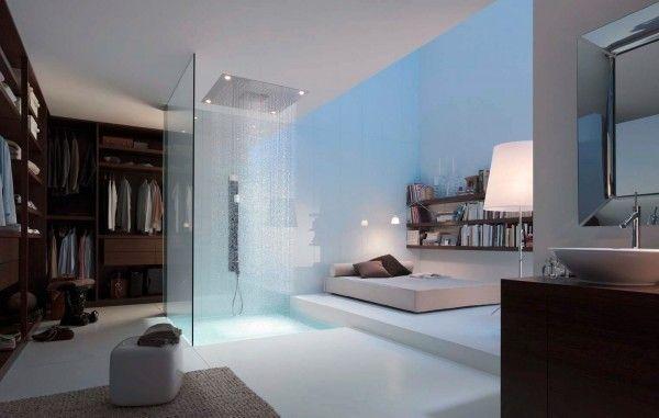 Strange bedroom bed white professional professional work