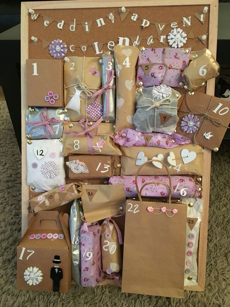 Made this wedding advent calendar for my best friend who is getting married