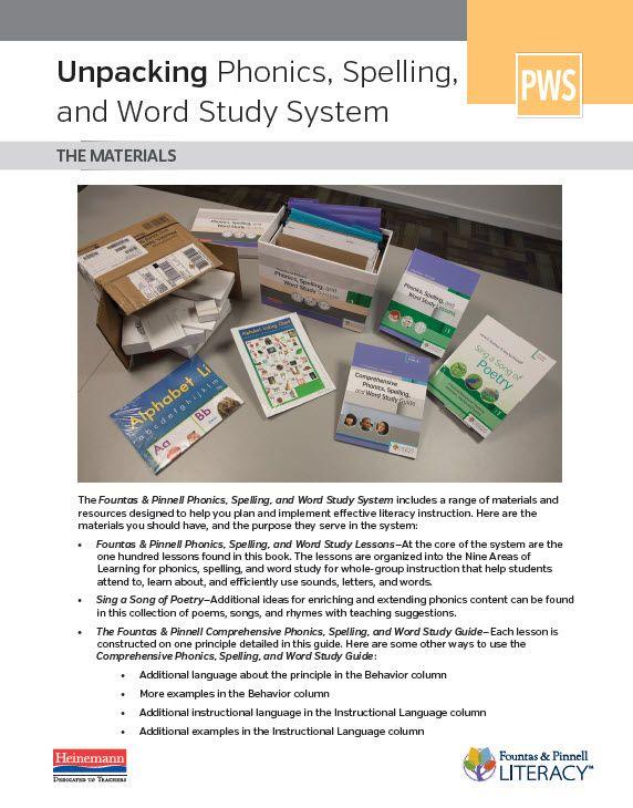 Heinemann Phonics And Word Study