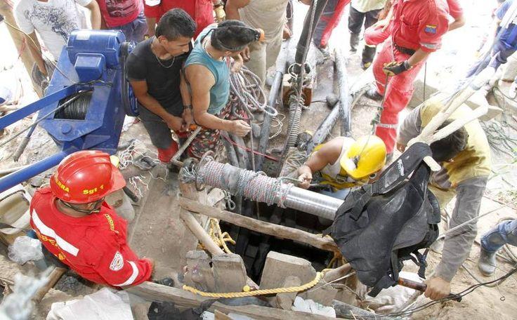 Imagen de archivo de una mina de oro que colapsó en mayo en Riosucio, Colombia.