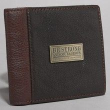 Wallet-Genuine Leather-Be Strong And Courageous-Br