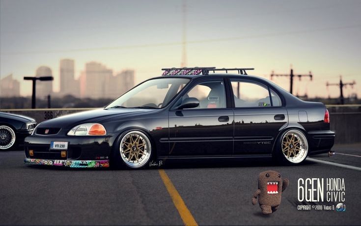"""Stanced"" Honda Civic JDM by CapiDesign.deviantart.com on @deviantART"