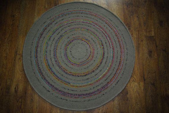 Crochet round rug 527'' 134 cm/Crochet by AnuszkaDesign on Etsy