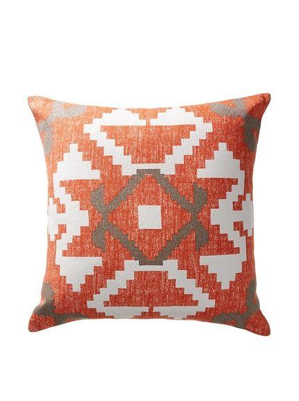 Darzzi Aztec Pillow, Orange/Grey/Natural, Http://www.