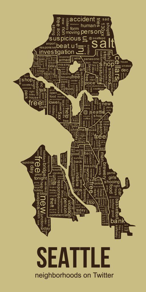 tweet based seattle map 27 best Seattley