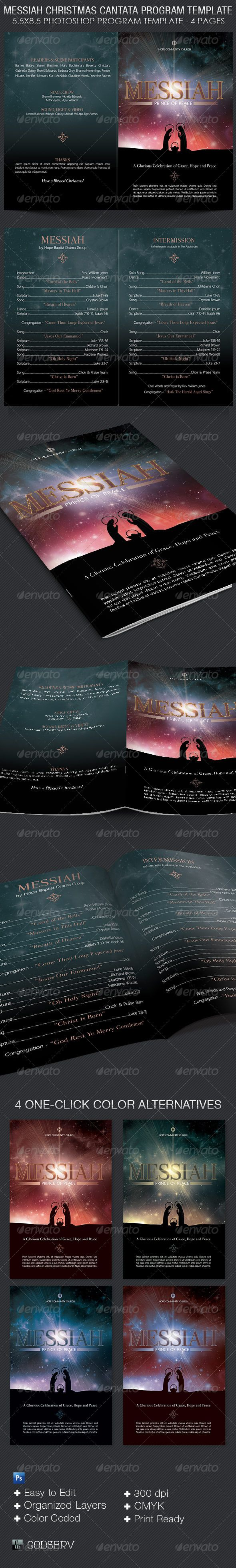 best images about christmas programs for church messiah christmas cantata program template