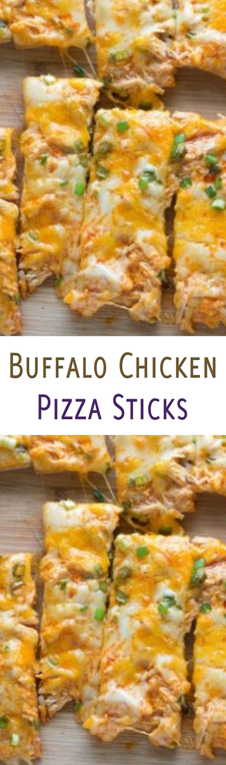 Buffalo Chicken Pizza Sticks Recipe. #CompleteRecipes.com #recipe #recipes #food #foodgasm #cleaneating #healthyfood #healthy #healthyrecipes
