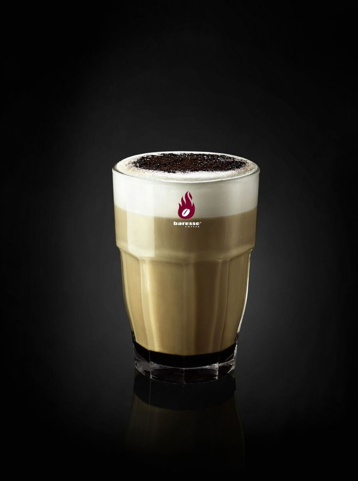 Caffè Latte Lakrizza with Liquorice / Licorice Syrup from Lakrids by Johan Bülow  - get it in your nearest Baresso Coffee Bar!