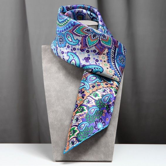 Silk Square Scarf - Waters edge by VIDA VIDA gBGX4