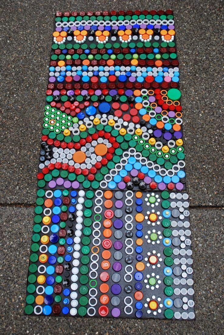 148 best plastic bottle cap crafts images on pinterest for Crafts made from plastic bottles