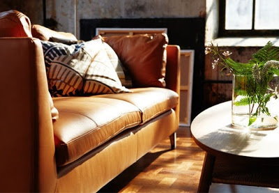 Leather couch: new ikea stockholm collection 2013