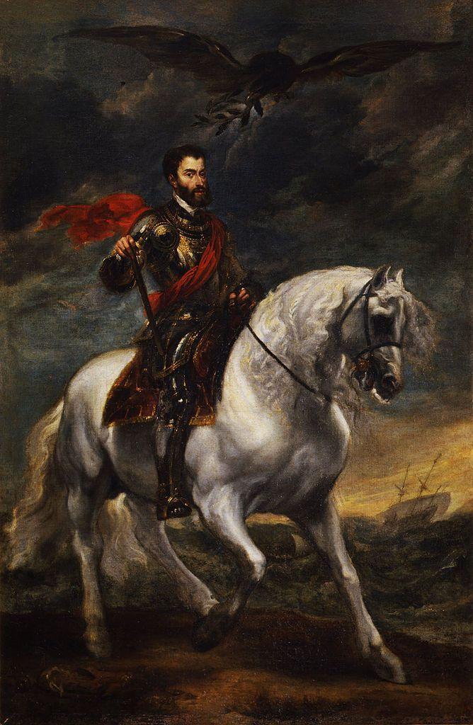 Equestrian portrait of the Emperor Charles V - Anthony Van Dyck