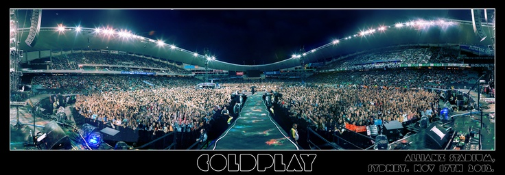 Coldplay - Allianz Stadium, Sydney. Nov 17 2012.