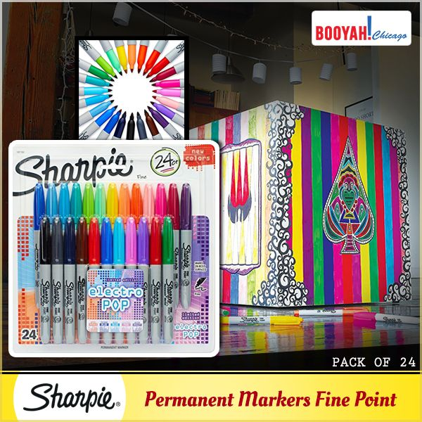 #GenuineImportedProductsDirectFromUSA Only at Booyahchicago.com Sharpie Permanent Markers Fine Point 24-Pack Assorted 2015 Colors. Buy Now: https://tinyurl.com/ybutn75e #OfficeSupplies #SchoolSupplies