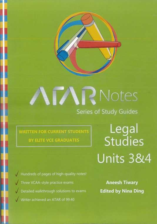 Legal studies units 3 and 4  - written for current students by elite VCE graduates.