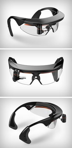 The Ergonomic Smart Goggles allow bikers to have an easy to access HUD display to help them navigate through maps. The HUD unit comes with several placement-adjusters that allow the riders to position the HUD crystal wherever they want, be it in front of the right eye or the left. A camera sits right between the eyebrows, capturing your ride while allowing you to send pictures and videos to your social media.
