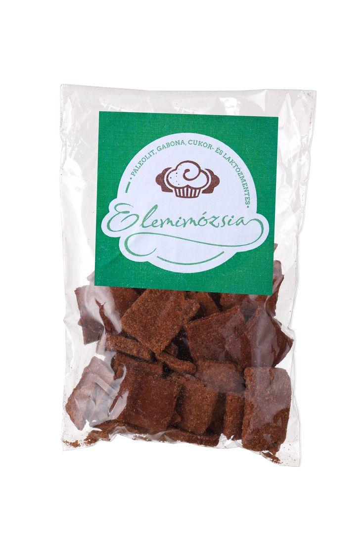 Magas rezisztens keményítő tartalmú ropogós kréker.  http://glutenmentes-paleoliszt.hu/termek/kakaos-kreker/