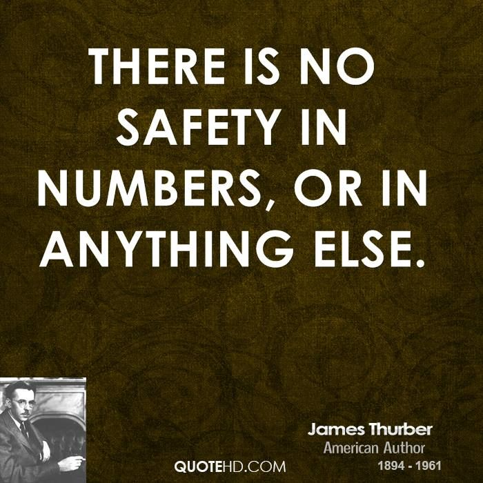 There is only safety in one place: in the arms of Jesus Christ, our Lord and Savior.