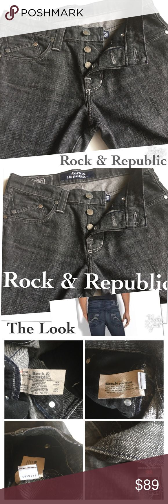 WED ONLY SALE ROCK & REPUBLIC BUTTON FLY JEANS Step Step Rock It You have the Moves now Purchase the Jeans to Complete It For Office to the Night Out, here You are Rock & Republic Jeans