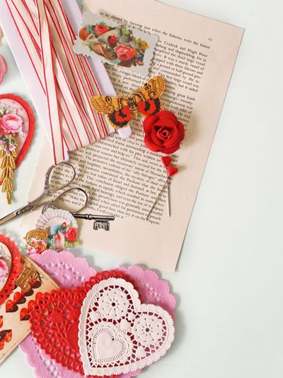 old-fashioned Valentine craft booklet (2)