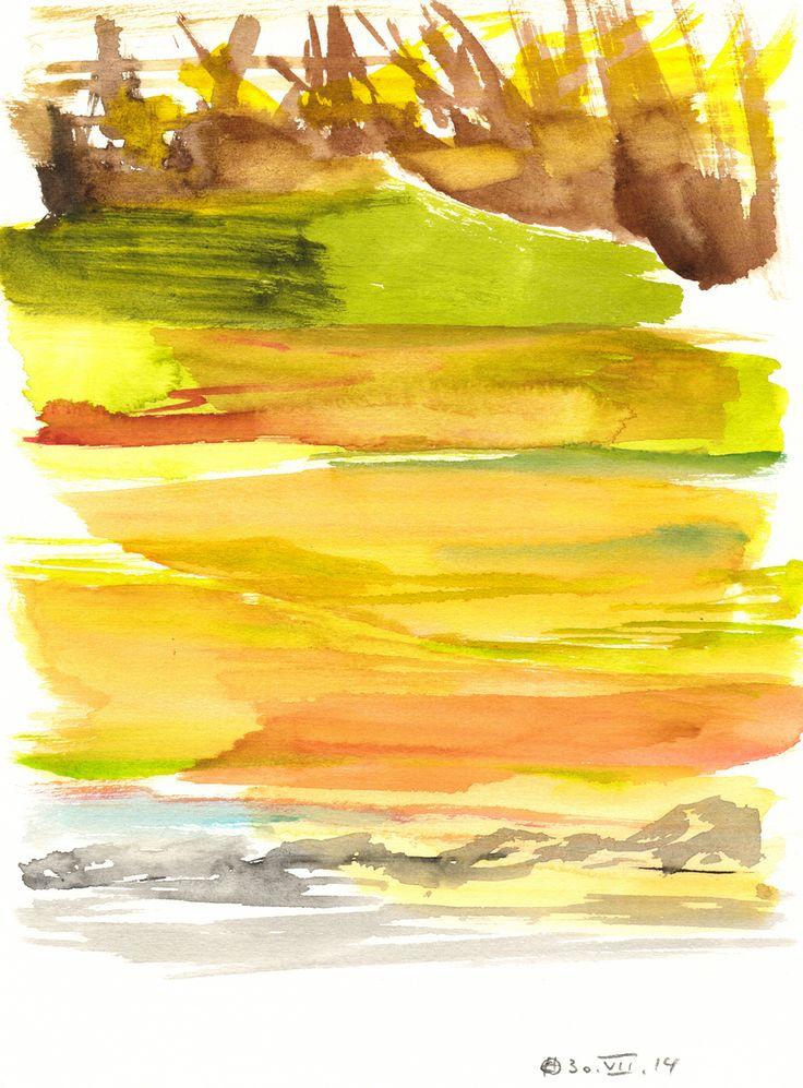 Untitled (Berlin) Watercolour on paper | 31x23 cm | 2014 | OCH-A-14-