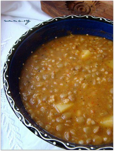 Patatesli yeşil mercimek çorbası - rumma