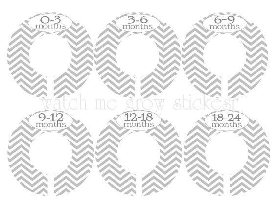 SALE 6 Baby Closet Dividers Baby Shower by WatchMeGrowStickers