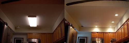 replacing flourescent box light in the kitchen-diy