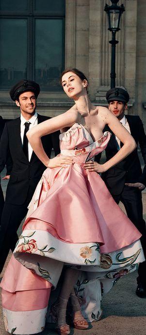 Christian Dior Haute Couture S/S 2009 & Elettra Rossellini Wiedemann | Photo by Jason Schmidt | Tatler UK May 2009