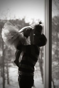 Dad and daughter... I want this photo!!