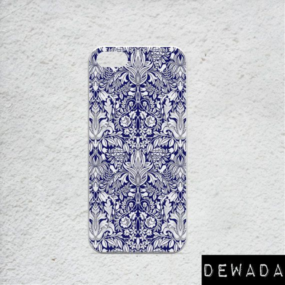 indigo blue iPhone 6s plus case damask by DeWadaSTORE