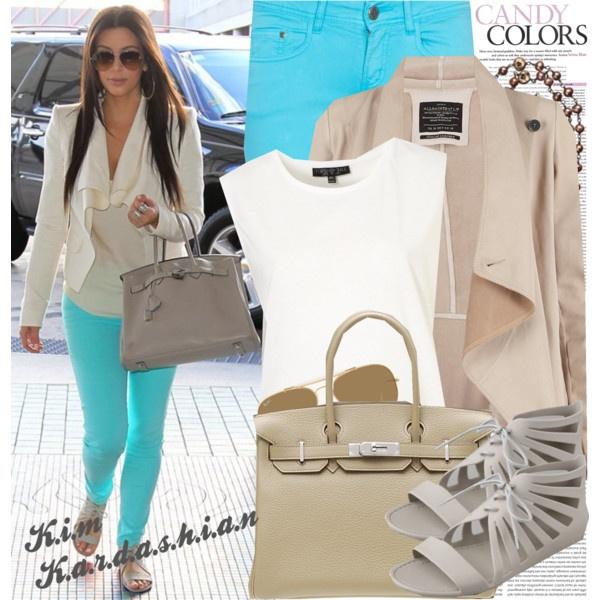 : Celebrity Style, Outfits, Fashion, Nastyaafanasova, Kim Kardashian, Color, Styles, Polyvore