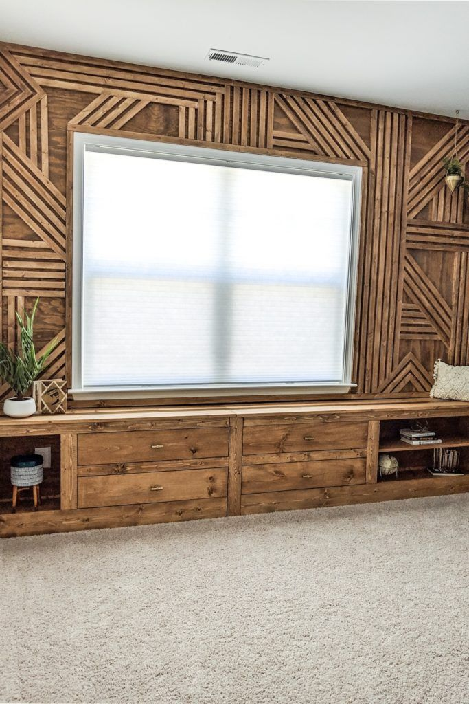 Make The Coolest Wood Accent Wall This Weekend Wood Accent Wall Wood Wall Design Wood Feature Wall
