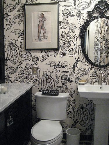 299 best wallpaper images on pinterest interiors for Bathroom decor osborne park