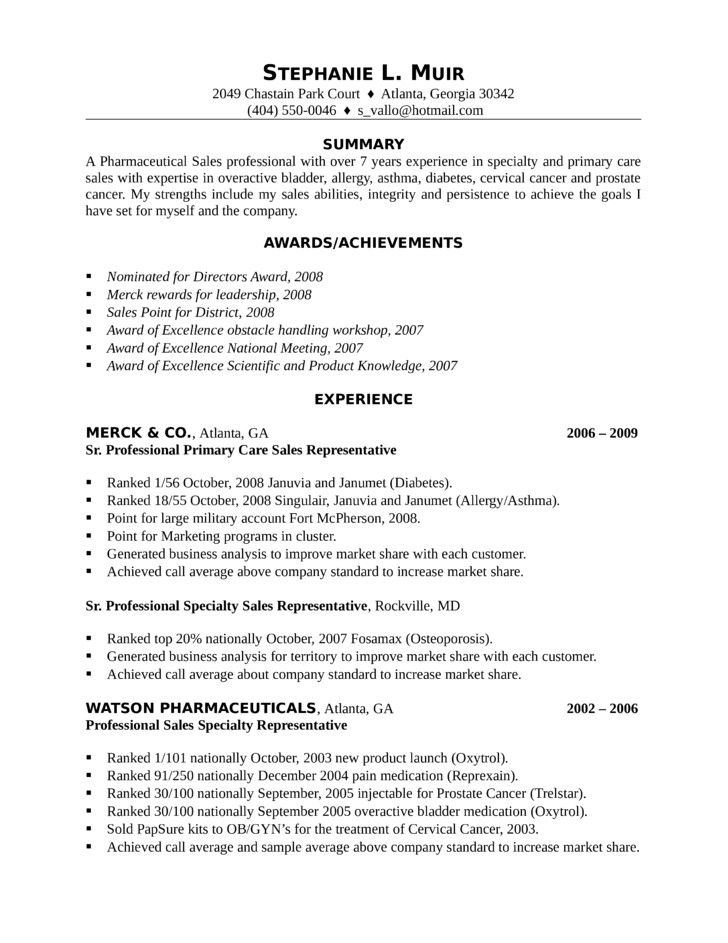 Pharmaceutical Sales Rep Resume Perfect Professional Pharmaceutical Sales Representative Sales Resume Examples Medical Sales Resume Pharmaceutical Sales Resume