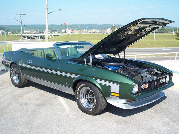 1972 Ivy Green 351 Ram Air Mustang Mustang Pinterest