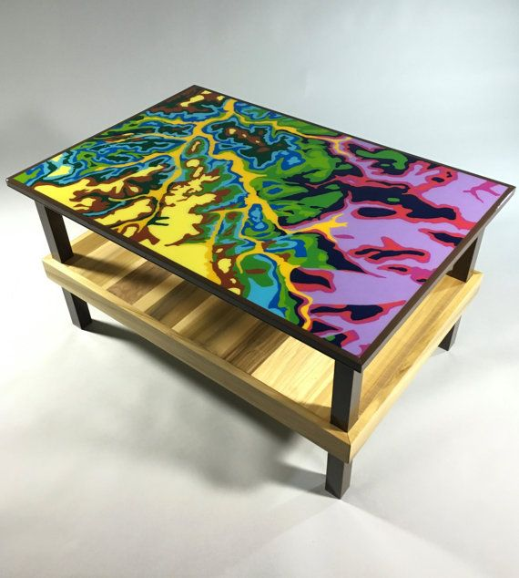 Handmade Hand Painted  Resin Coated Wood Art by HuxleyStudio