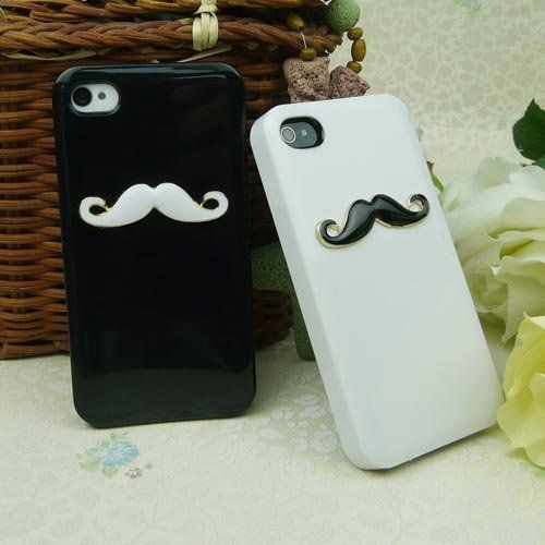 Two pieces 3D Chaplin mustache Case Cover Shell For iPhone 4 4S 4GS lovers & couple HZ by TOOGOO, http://www.amazon.com/dp/B0094AAA7K/ref=cm_sw_r_pi_dp_jsX-rb0SK20NP