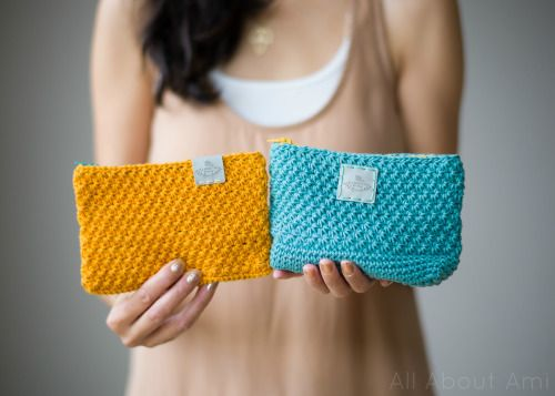 All About Ami / Star Stitch Pouches - free pattern
