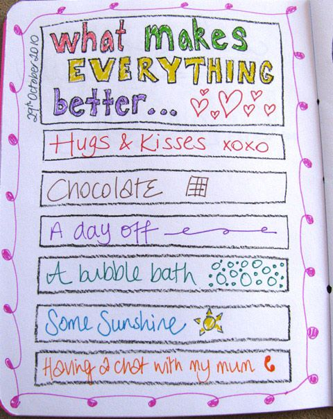 What makes everything better... - cute page idea!
