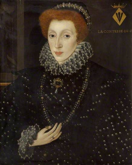 Lady Frances Sidney (1531–1589), Countess of Sussex, Foundress of Sidney Sussex College by George Gower, ca. 1575