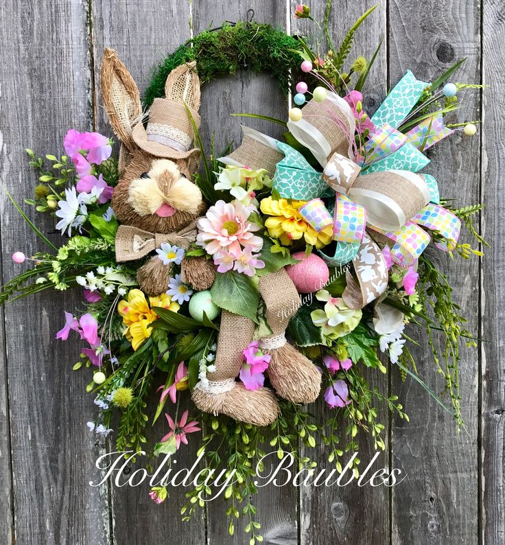 Bunny Wall Basket by Holiday Baubles