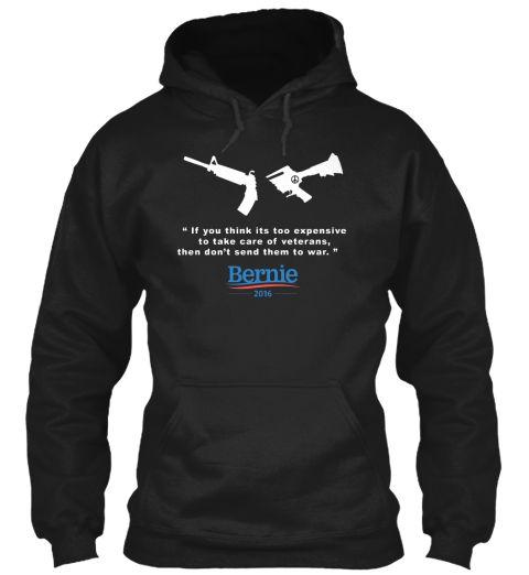 Peace Bernie Black T-Shirt Front