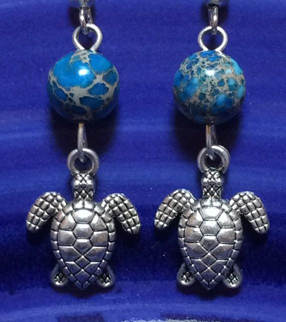 Silver and Beaded Turtle Earrings 100% of Proceeds by CasadeCoco. 100% of the proceeds goes towards sea turtle conservation on the island of Barra de Pacuare, and these earrings are handmade with love by Casa de Coco's founder Sherri. Definitely jewelry for a good cause!