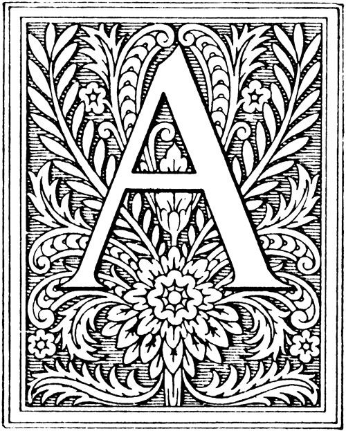 Illumination Letters And Flowers | Back to more Letter Art >>